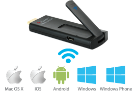 Toucan OMNICAST — wireless display for any laptops, smartphones and tablet PCs
