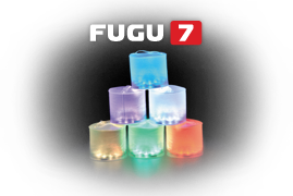 The FUGU 7 is a color-changing, solar-powered light.