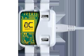 FTB 4U5A — универсальное зарядное устройство, 4 USB порта, Smart IC.